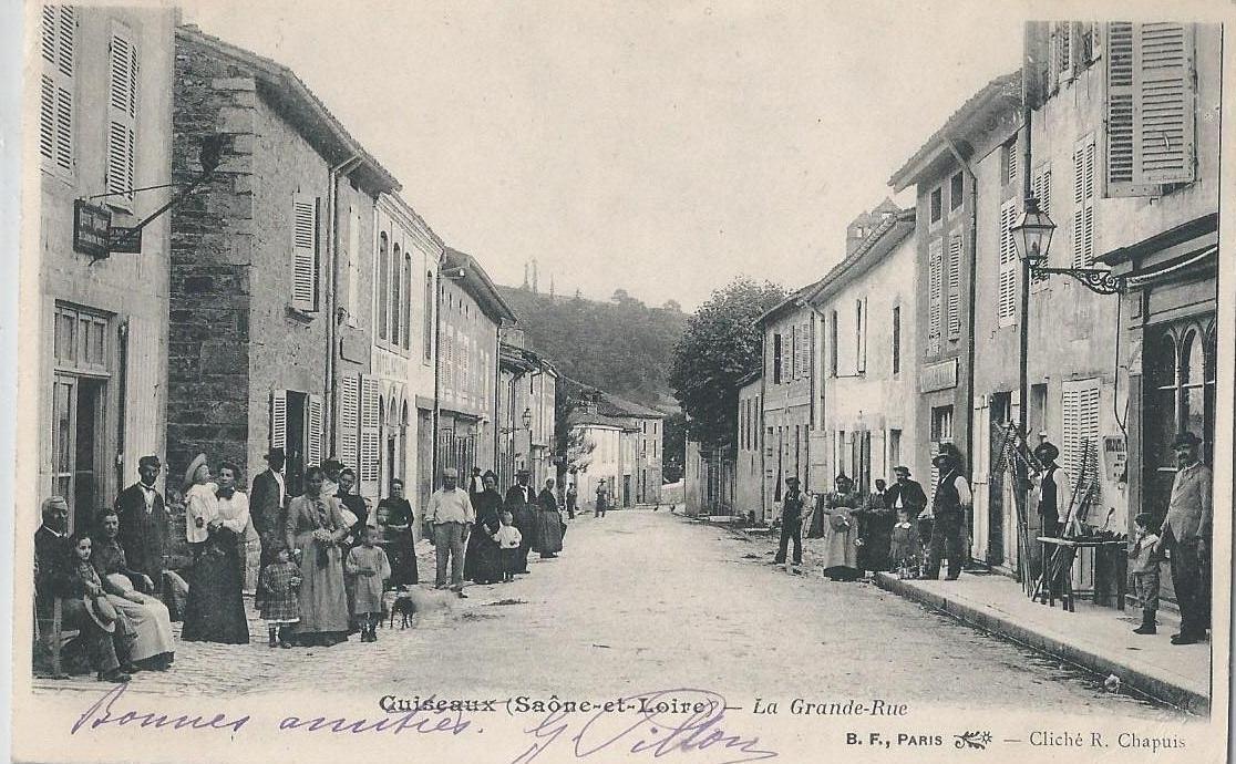 Cuiseaux - La Grande Rue vers 1900